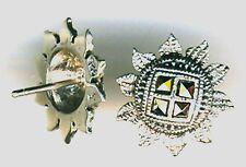 "925 Sterling Silver Marcasite Sunflower Flower Sun Stud earrings  diam 5/8"" 16mm"