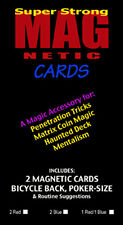 Magnetic Bicycle Playing Cards (2) Red Back. Magic Trick Accessory
