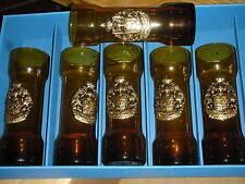 LOT de 6 VERRES memoriandum in pelae avec BLASON à determiner GLASS glas VETRO