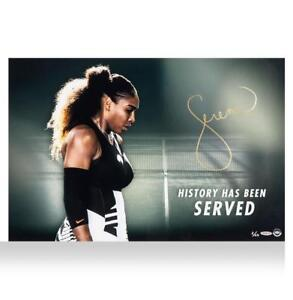 Serena Williams Signed Artwork: History Has Been Served Autograph