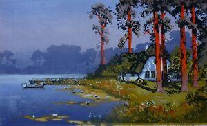 Oscar DROEGE (1898-1982) - Abend am See