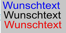 Wunschtext Wunsch Aufkleber Auto Style Sticker Tuning JDM Kult Schocker Selbst
