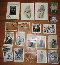 Vintage Photographs Lot Babies & Children Shots 19 Photos
