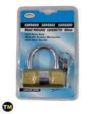 Cadenas en acier inoxydable avec 3 clés pour portes haute qualité 60 mm 40 mm