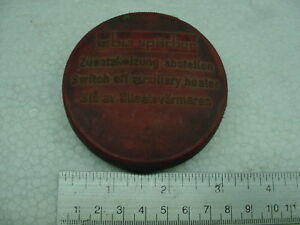 RED Heater Vintage Volkswagen Beetle Bus Thing Fuel Cap Gas Tank Fill 70mm
