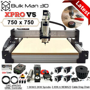 xPRO V5 GRBL 750x750 Work-Bee CNC Router Machine Full Kit 4 Axis Wood CNC Mill
