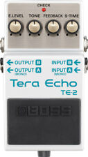 BOSS TE-2 TERA ECHO DELAY REVERB EFFECTS PEDAL + 2 FREE PLECTRUMS DD 2 3 5 6 7