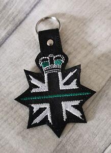 Paramedic/NHS/ Nurse Doctor or Civilian Keyring/Bag Fob **Thin Green Line**