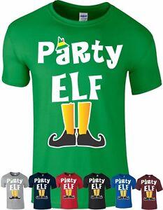 PARTY Elf T Shirt Family Pyjama PJ's Idea Funny Christmas Xmas Gift Top