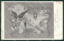 GdF Guardia di Finanza Militari ABRASA cartolina KF0176