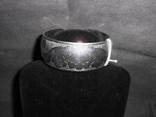 Tibetan Silver Cuff Floral Bracelet (572)