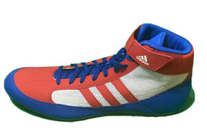 Adidas Wrestling Shoes Sz 13 Boots Red/blue AQ3324 Mens Boxing  new