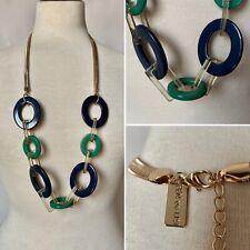 Retro 1960s Styly Chunky Green Plastic Necklace Costume Jewellery Ben De Lisi