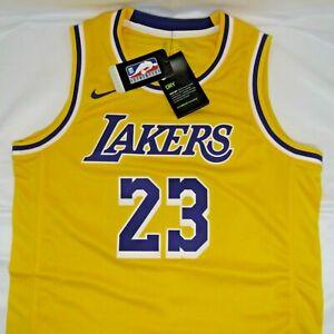 Los Angeles Lakers NBA LeBron James Nike Gold Swingman Jersey - Youth M 10/12