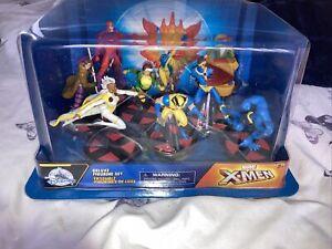 Disney Store Marvel X-Men Comic Book Cartoon Deluxe 9 piece Figurine Playset