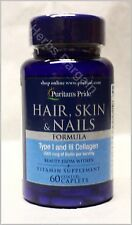 Puritan's Pride Hair Skin & Nails 3mg Biotin Type I & III Collagen New Sealed