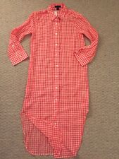J Crew New Gingham Tunic Cover-up Shirt Dress Pink Plaid XXS G2157 Sold Out $89