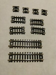 N scale track 10 short piece mix Atlas 2509 Snap-Track code 80 straight USA exc