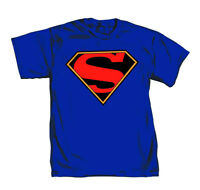 Superman Truth Logo Mens Blue T-Shirt