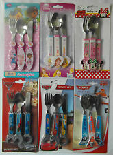 DISNEY 3pc Stainless Steel Cutlery Set - Knife, Fork, Spoon - various designs