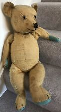 """Large Antique Chiltern Mohair Jointed Teddy Bear Well Loved TLC 26"""""""
