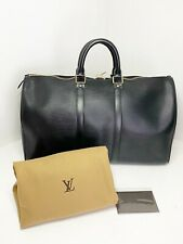 Vintage Authentic Louis Vuitton Keepall 45 Epi Leather Noir Black SP0966