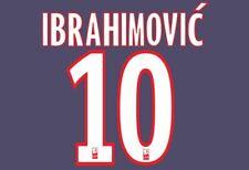IBRAHIMOVIC #10 PSG 2012-2016 HOME FOOTBALL Nameset per maglia Paris St Germain