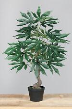 Artificiales de marihuana árbol aprox. 60cm arte planta Strauch porcentaje cannabis