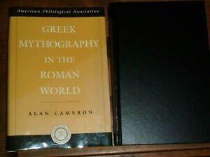 2004 OUP 1st Ed HB/DJ Greek Mythography In the Roman World Cameron Amazon £105 +
