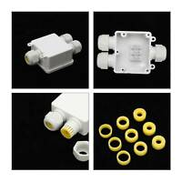 3 Way 24A Outdoor Electrical Cable Wire Connector  Waterproof Junction Box Case