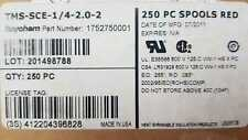 LOT OF 250 PCS TMS-SCE-1/4-2.0-2 1752750001 RAYCHEM RED CABLE MARKER