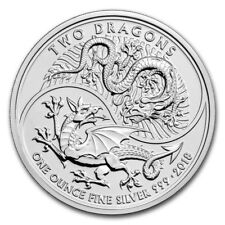 1oz Silver Two Dragons Great Britain 2018 BU - Limited edition of 50000 pieces