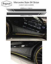 Mercedes AMG style Custom side stripes