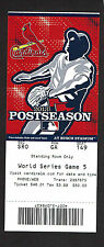 2013 WORLD SERIES GAME 5  TICKET STUB RED SOX vs CARDINALS