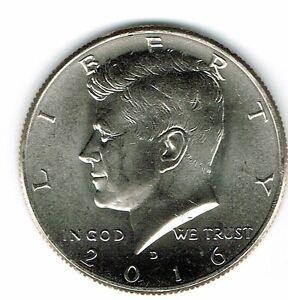 2016-D Brilliant Uncirculated Copper-Nickel Clad Copper Strike Half Dollar Coin!