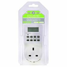 Timer Switch 24 Hour 7 Day Digital Programmable Plug LCD Display Min – Week