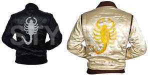 Drive Movie Ryan Gosling Slim Fit Trucker Scorpion Stylish Satin Jacket BIG-SALE
