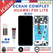 Ecran Complet Avec Frame Huawei P30 LITE BLEU + Chassis + COLLE + Outils