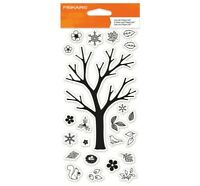 Build-a-Tree Tree Clear Acrylic Stamp Set by Fiskars Stamps 103760-1001 NEW!