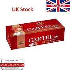 200x CARTEL STRAWBERRY Flavour Filter Cigarette Tubes - Make Your Own Like Rizla