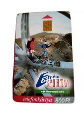 Hungarian Extreme sports phonecard. Bungeejumping. Some marks from use.
