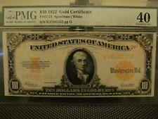 Fr# 1173 $10 1922 GOLD CERTIFICATE PMG40  NICE!