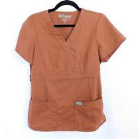 Grey's Anatomy By Barco Scrub Top Rust Brown Women's Medium M