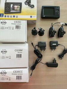 Wireless Sicherheits Kamerasystem innen/aussen 2 Kameras, Farb-Monitor bis 75m