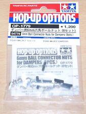 Tamiya 54779 6mm Ball Connector Nuts for Dampers (8 Pcs.) (TG10-Mk.2FZ), NIP