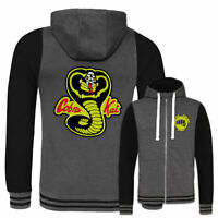 Cobra Kai FULLY EMBROIDERED Varsity Hoodie Karate Kid Dojo No Mercy Retro Movie