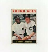 1964 Topps Al Downing-Jim Bouton #219 Baseball Card New York Yankees HOF