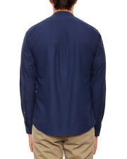 SAMPLE SALE: Reader x Fields navy blue shirt; medium; 100% cotton; made in USA