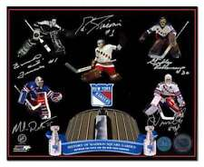 NY Rangers Madison Square Gardens Autographed 5 Goalie Legends 16x20 Photo