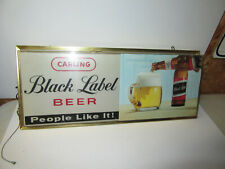 Vintage Wall Mount Carling Black Label Beer Hanging Beer Sign